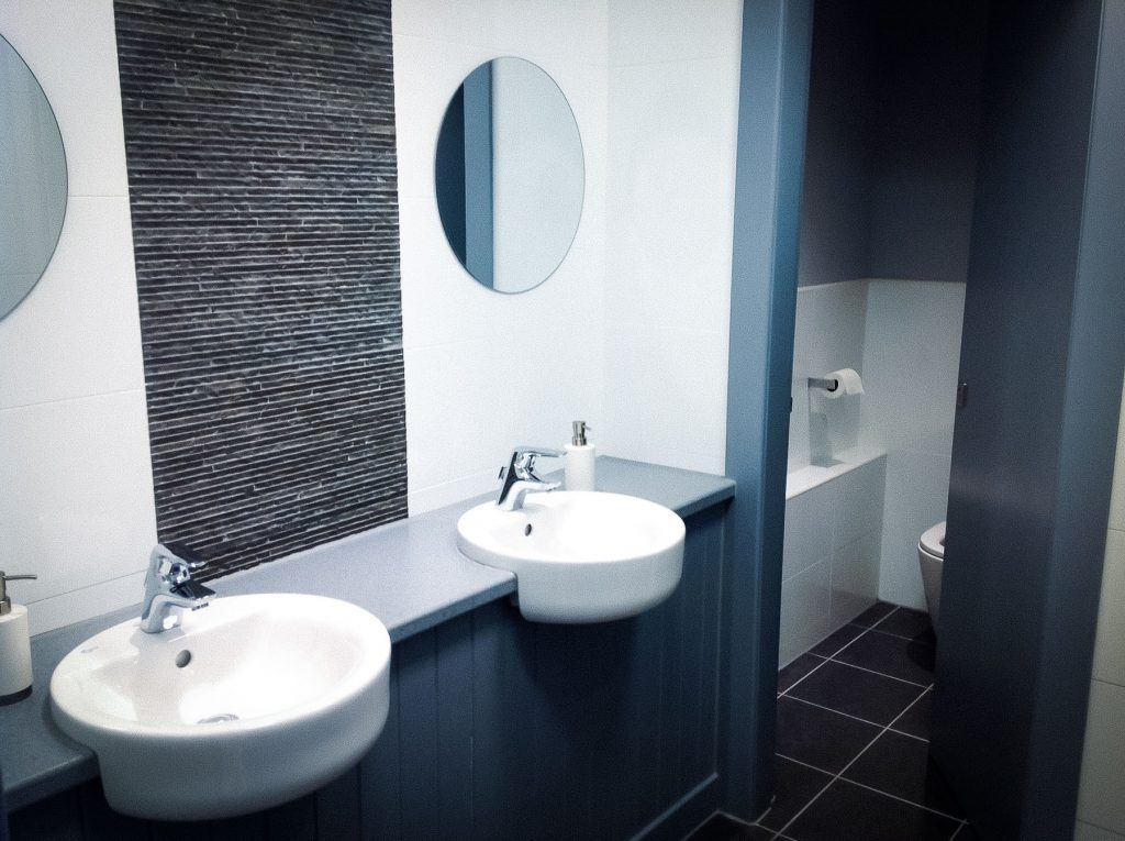 Modern bathroom in a commercial property
