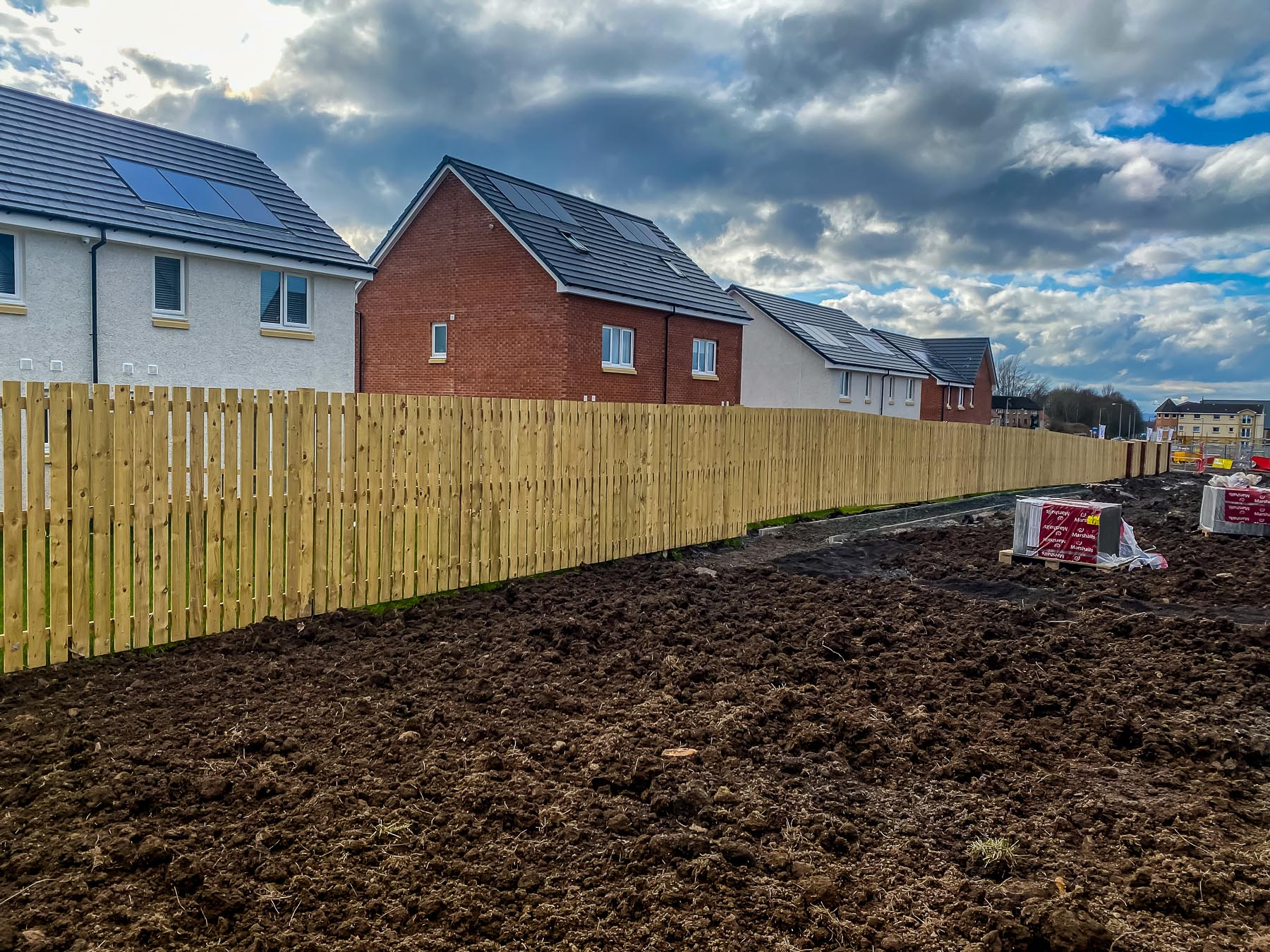 Back garden with timber fencing